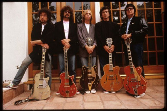 Dylan, Lynne, Petty, Harrison y Orbison. The Traveling Wildburys.