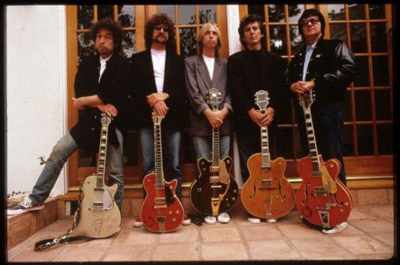 Dylan, Lynne, Petty, Harrison y Orbison. The Traveling Wildburys.