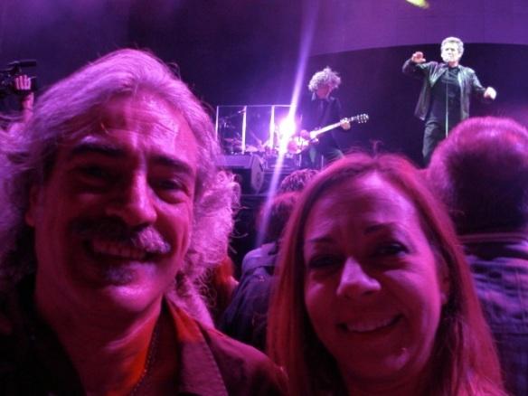 Fernando y Raquel en un concierto de Miguel Ríos.