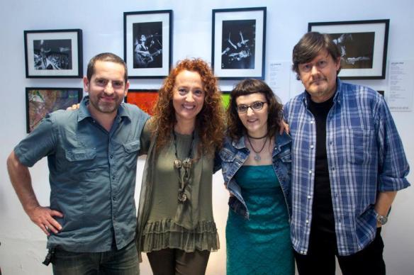 Con Santi Fernández y Ramón Arroyo, de Los Secretos. Foto: Juan Pérez-Fajardo