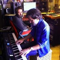 En la grabación del disco de César Pop y la Orquesta Pinha, 'Noticias del Norte'