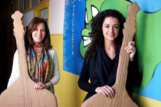 Cecilia Fuenmayor (izquierda) y María Guerrero, responsables de la fundación.