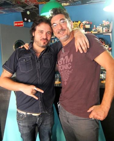 Diego con Toni Jurado.