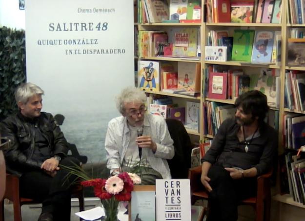 Con Santi Alcanda y Quique González, la tarde que estuvimos en el disparadero.